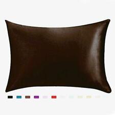 Imitation Silk Standard Queen Pure Pillowcase Cushion Pillow Case Cover 29 Inch