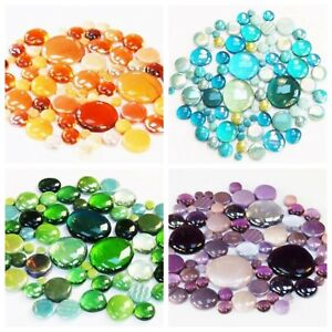 200g Round Mix of Glass Pebbles & Mosaic Tiles - Choice of Colours