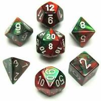 Dice Chessex Polyhedral 7 Die Set CHX26431 Dice in a clear plastic box
