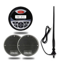 "Marine Waterproof Bluetooth Radio Audio Stereo+3""Boat yacht Speaker+FM AM Aerial"