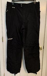 Spyder XT Full Side Zip Ski Snowboard Pants Men's Size 2XL BLACK