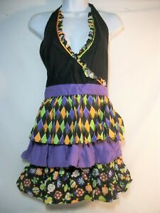 Brother Sister Designs Halloween full Apron tiered ruffle skirt One Size