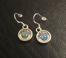 Brighton PEACE CHARMING IMAGINE Two-Sided Custom French Wire Silver Earrings