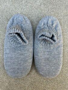 Men's Ankle Sock Grey Sherpa Fleece Lining House Slippers | Large