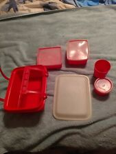 Tupperware Pak-N-Carry Lunch Kit Snack Cup Sandwich Pack #1254 Ice Cream Keeper