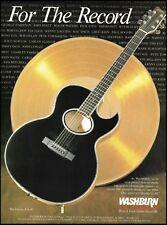 Washburn EA-40 black electric/acoustic guitar 1988 ad 8 x 11 advertisement print