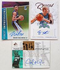 NBA CARDS AUTOGRAPH LOT of 3 Dahntay Jones Wade Baldwin Greg Stiemsma /100 /249