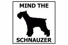 Mind the Schnauzer (Miniature) - Gate/Door Ceramic Tile Sign