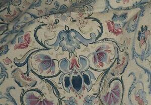 Vintage Ralph Lauren Provence Floral  Cotton Linen Blend King Bed Skirt