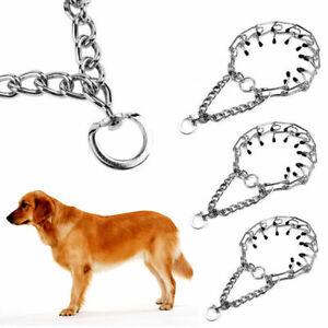 PRONG COLLAR Pinch Choke Chain Dog Training Guardian Gear Rubber Tips All Sizes