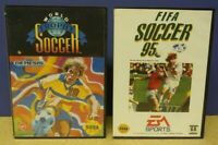 FIFA Soccer + World Trophy Soccer - Sega Genesis Working + Tested - 2 Game Lot