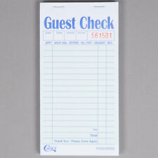 50 Books - (2500 checks total) 2 Part Green and White Carbon Guest Check