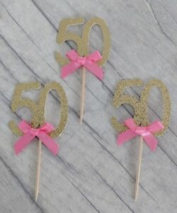 12 Gold glitter cupcake topper 16 18 21 25 30 40 50 60 70 80 90 ANY AGE BIRTHDAY