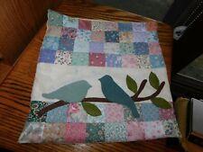 Applique Bird Quilt Panel Pillowcase Handmade