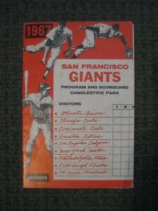 1967 San Francisco Giants-Program & Scorecard-Candlestick Park-EX/EX+