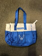 Novelty Military Air Force Baby Diaper Bag Tote Lunch Bag Zippered White&Blue