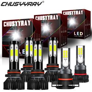 For Dodge Journey 10-19 9005+9006+5202 Front LED Headlight Hi/Low Beam Fog Light