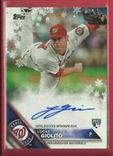 Lucas Giolito RC 2016 Topps Holiday MEGA AUTOGRAPHS Rookie Card Se /50 Nationals