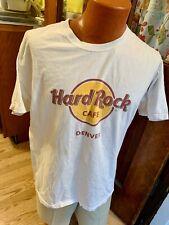 Hard Rock Cafe Denver Colorado Shirt Mens Size L Vintage White COTTON