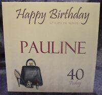 Personalised Birthday Card Handbag Lipstick Shoe 18th 21st 30th 40th 50th 60th
