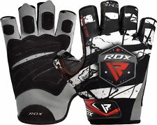 RDX Gym Weight Lifting Gloves Body Building Training Workout Straps Fitness M Black