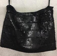 Haute Hippie Skirt Black Sequin Mini Size S