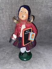 Vintage 1993 Byers Choice Caroler School Student Girl Signed by J. Byers 37/100