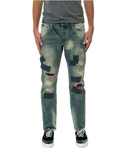 Born Fly Mens The Nassau Denim Regular Boot Cut Jeans, Blue, 36W x 31L