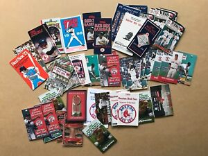 Lot of 56 Boston Red Sox Pocket Schedules