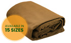 Heavy Duty Canvas Tarp - 100% Cotton Canvas - Water and Mildew Resistant - Tan