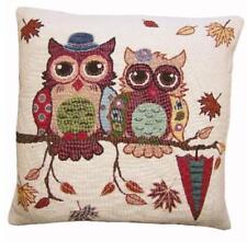 CASTLETON HOME Owl Pair Cushion Cover Set OF 2 40cm x 40cm