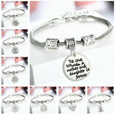 Personalised Gifts For Her Mum Nanny Gran Auntie Sister Godmother Heart Bracelet