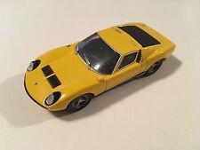 Ixo 1966 Lamborghini Miura Yellow Diecast Model Car Scale 1:43 Used Condition