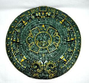 Azteken Kalender Wandrelief Inka Relief Figur Skulptur Maya Präkolumbisch