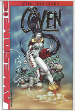 Awesome Comics The Coven #5 Comic Dynamic Forces Gold Foil Ed Alt Cover w/ COA