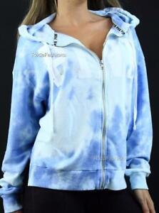 Victoria's Secret PINK Hoodie Sweatshirt Tie Dye Full Zip Logo NWT