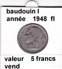 FB 2 )pieces de 5 francs de baudouin I 1948 belgie