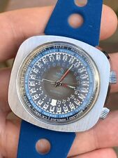 Yema Worldgraf Vintage World Timer Mens Watch 44,5mm Automatic