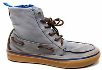 Sperry Top-Sider Mens G12 Hi-Top Fashion Sneaker Boat Shoe Grey Size 9 M US