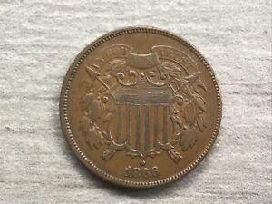 1866 U.S. 2 Cent Piece, Circulated