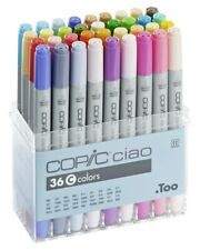 COPIC CIAO 36C BASIC COLOURS SET  TWIN TIPPED MARKERS  *BNIB- SALE*