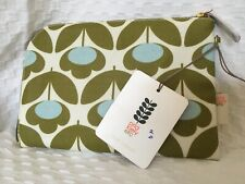 New Orla Kiely Multi Meadow Print Cosmetic Zip Case Pouch - Makeup Beauty