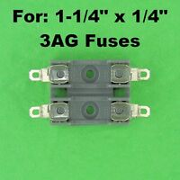 Littlefuse Double Fuse Holder Block For 3AG Fuses 12 Volt 30A 120V AC Dual Fuse