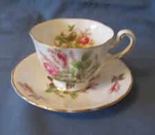 ROYAL CHELSEA CUP & SAUCER  MOSS ROSE   WONDERFUL CONDITION
