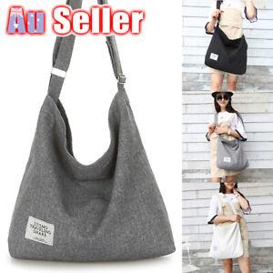 Hobo Tote Purse Travel Messenger Large Canvas Handbag Womens Shoulder Bag Ladies