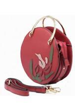 TOM&EVA ETE 2018 : sac à main rond avec décoration florale ref 17E-1864 GREN