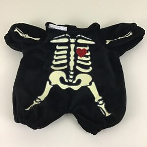 Build A Bear Glow In The Dark Skeleton Outfit Halloween Costume One Piece Retire