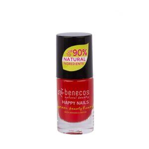 Vernis à ongles bio BENECOS rouge tendance 5 ML