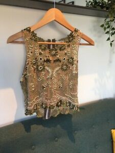 Beaded Flapper Style Vest Top - Size 8 or Small