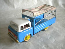 Vintage Tin toy 1960s Shanghai Red China MF112 Friction Lorry with canvas cover